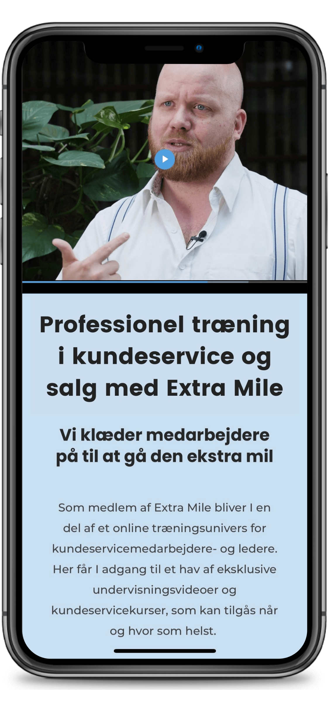 Extra Mile på mobiltelefonen